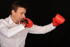 Boxer-Geschäftsmann lizenzfreie stockfotos