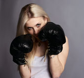 Boxer girl Royalty Free Stock Photos