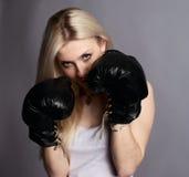 Boxer girl Royalty Free Stock Photos