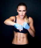 Boxer girl portrait Royalty Free Stock Photography