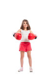 Boxer girl smiling Stock Photos