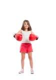Boxer girl smiling Stock Photos