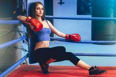 Boxer girl Royalty Free Stock Photography