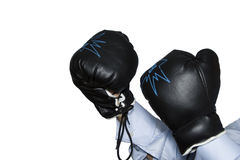 Boxer gloves Royalty Free Stock Images