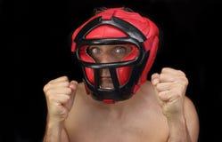 Boxer in guard Stock Photos