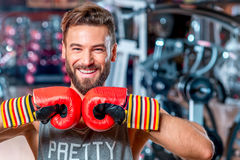 Boxer in the gym Royalty Free Stock Photography