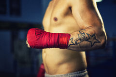 Boxer hand Royalty Free Stock Photos