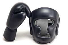 Boxer helmet Stock Images