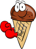 Boxer ice cream cone Stock Photography