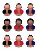 Boxer icons set Royalty Free Stock Image