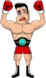 Boxer Injured Belt Championship Isolated Royalty Free Stock Photo