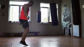 Boxer is Jumping Rope stock video