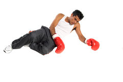 Boxer Knockdown Royalty Free Stock Image