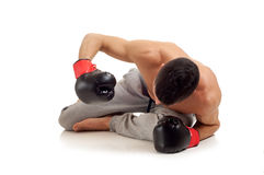 Boxer on knockout Royalty Free Stock Photo