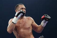 Boxer Kubrat Pulev royalty free stock images