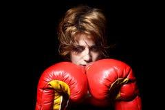 Boxer lady Stock Image