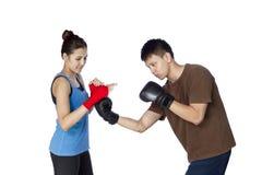 Boxer lokalisiert stockfotografie
