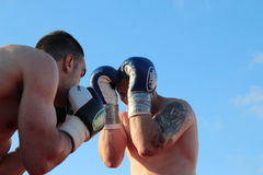 Boxer Luca Tassi vs Sandor Ramocsa match Stock Images