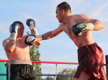 Boxer Luca Tassi vs Sandor Ramocsa match Stock Photo