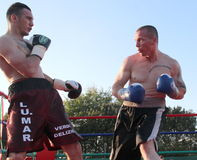 Boxer Luca Tassi vs Sandor Ramocsa match Royalty Free Stock Photo