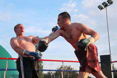Boxer Luca Tassi vs Sandor Ramocsa match Royalty Free Stock Image