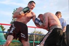 Boxer Luca Tassi vs Sandor Ramocsa match Stock Image