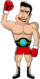 Boxer Mad Muscular Championship Belt Isolated Stock Images