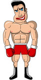 Boxer Mad Muscular Isolated Royalty Free Stock Images