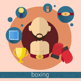 Boxer Man Boxing Icon Stock Image