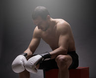 Boxer man Royalty Free Stock Photography