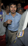 Boxer Manny Pacquiao is seen at LAX . Royalty Free Stock Photos