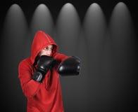 Boxer men strikes Royalty Free Stock Images