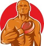 Boxer mit der Verpackenhandschuhhand vektor abbildung