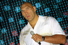 The boxer Nikolai Valuev. The photograph was taken at a rehearsal of the international competition of young singers New Wave 2009 Dzintari Concert Hall, Jurmala Royalty Free Stock Photography