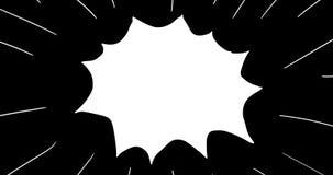 Boxer-obenliegender Durchschlags-2D Animation stock footage