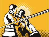 Boxer overhead punch stock illustration