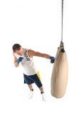 Boxer practicing Royalty Free Stock Photo