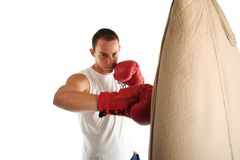 Boxer practicing Royalty Free Stock Photos
