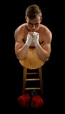 Boxer praying before the fight Royalty Free Stock Photos