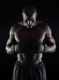 Boxer preparing for fight Royalty Free Stock Image