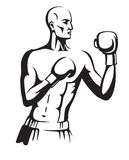 Boxer preparing for a fight Royalty Free Stock Image