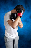 Boxer  protecting itself Stock Photos