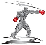 Boxer punch Royalty Free Stock Image