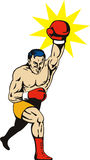 Boxer punching Stock Photography