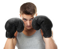 Boxer ready to figh Royalty Free Stock Images