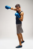 Boxer ready to fight. Boxing, power and strength, champion Stock Image