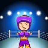 Boxer ready to fight. Illustration Stock Photos