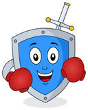 Boxer Security Shield Antivirus Character Royalty Free Stock Photography