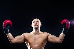Siegerboxer nach Kampf Lizenzfreie Stockfotos