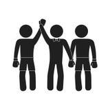 Boxer silhouette avatar icon. Illustration design Stock Photos